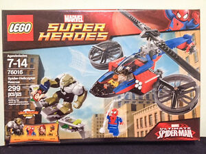 Lego 76016 Spider-Helicopter Rescue NISB - Retired