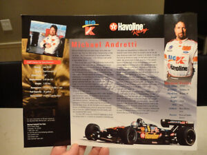 """Autographed Michael Andretti 8.5 x11"""" Colour Picture Card Kitchener / Waterloo Kitchener Area image 3"""