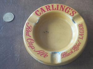 Rare Carling's Red Cap / Black Label Metal Ashtray Kitchener / Waterloo Kitchener Area image 1