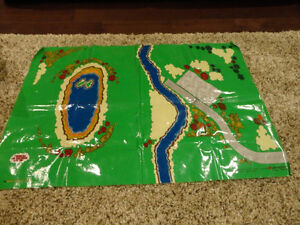 Thomas The Tank Wooden Railway Plasticized Fabric Play mat Kitchener / Waterloo Kitchener Area image 1