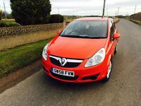 2009 58 Vauxhall Corsa 1.3CDTi ecoFlex Active Red 5 Door £30 Road Tax.