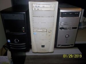 2 used computer towers