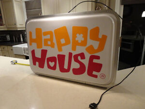 ONE OF A KIND Happy House Dual Sided Fluorescent Hanging Sign Kitchener / Waterloo Kitchener Area image 3