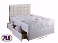 🚚🚛 ONE YEAR GUARANTEE🚚 BRAND New Double Single Or King Divan Bed w 1000 Pocket Sprung Mattress