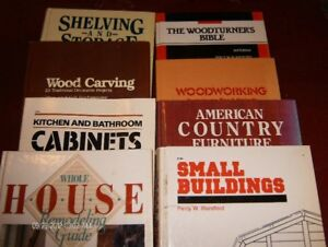 8 Hard cover Woodworking Books. $2.00 each