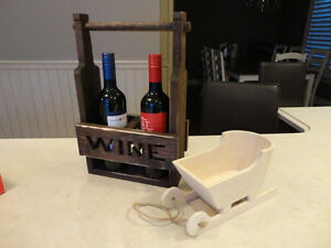 Solid Wood Dual Wine Bottle Decorative Holder - Perfect Shape Kitchener / Waterloo Kitchener Area image 4