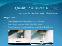 Duct cleaning services!