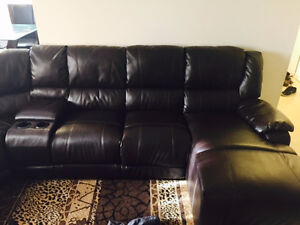 MOVING-OUT Sale Pryor 7-piece right facing recliner