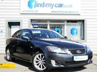 2007 57 Lexus IS 220d 2.2TD SE Saloon in Metallic Grey + Black Leather 2 OWNERS