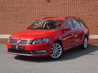 2014 14 Volkswagen Passat 1.6 TDI BlueMotion Tech Executive Estate (Red, Diesel)