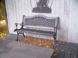 Cast Iron and Wooden Garden Bench