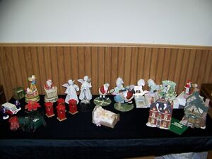 CHRISTMAS MUSIC BOXES, & DECORATIONS
