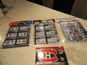 Brand New 3 Packs of NHL Stamp Cards & Canadiens 100 yrs. Pack