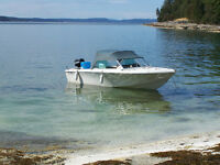 17 1/2 foot Sangster with AQ151 Volvo inboard motor and aluminum