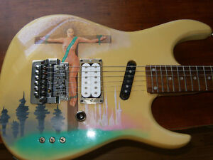 ONE OF A KIND 80s SUPERSTRAT 24 FRET - VERY COOL!