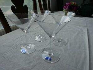 ***Brand New Waterford Marquis Vintage Martini Glasses (4)***