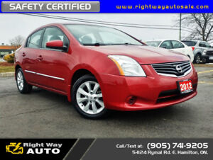 2012 Nissan Sentra 2.0 S | LOW KMS | SAFETY CERTIFIED