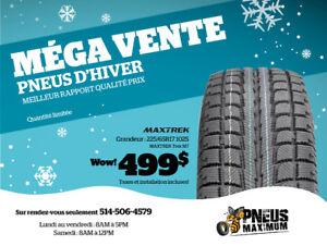 4 pneus hiver NEUFS 225/65R17 pour 499 tout inclus