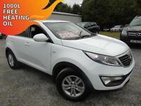2011 Kia Sportage 1.6 GDi 1 - White - 12 months MOT + Platinum Warranty!