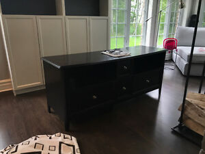 Espresso TV Console Table
