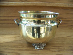 Footed Brass Planter