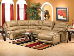Marco Genuine Leather Sectional Sofa