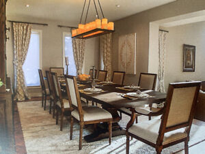 Restoration Hardware Mint Condition Dining Table Set for SALE