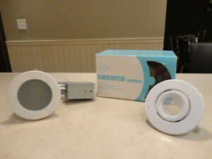 "Nextlite Recessed Shower Light - Brand new in the Box 4"" Trim"