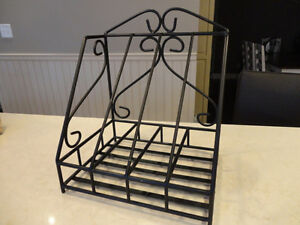 Wrought Iron Magazine Rack -In Excellent Condition 15 x12.5 x10""