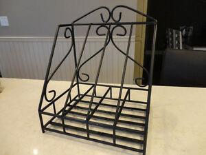 "Wrought Iron Magazine Rack -In Excellent Condition 15 x12.5 x10"" Kitchener / Waterloo Kitchener Area image 1"