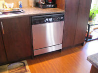 """STAINLESS STEEL 24"""" under the counter WHIRPOOL DISHWASHER"""