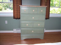Bedroom set with mattress and box spring