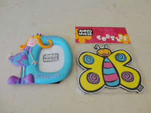 Happy House Princess Picture Frame & Butterfly Foam Coaster Kitchener / Waterloo Kitchener Area image 3