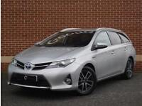2015 15 Toyota Auris 1.8 VVT-i Icon+ Touring Sports eCVT (Silver, Petrol Hybrid)