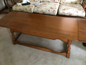 Solid maple coffee table,