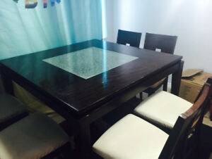 Dining Table - Chairs - Sofa
