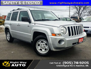 2010 Jeep Patriot North | LOW KMS | SAFETY & E-TESTED