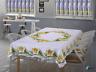 Rectangle Easter Tablecloth White Tea cloth Daffodil Gift Present Christmas