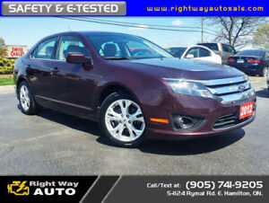 2012 Ford Fusion SE | MINT | LOW KMS | SAFETY & E-TESTED