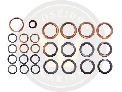 Fuel washer seal kit fuel pipe for Volvo Penta AD31L-A AD31P-A TAMD31L-A KAD32P