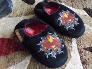 Two pairs of Slippers to go - Iron Man & Blue Slip-ons