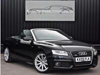 Audi A5 2.0 TFSI ( 211ps ) S Line Convertible 8 Speed Auto Black *Heated Seats*