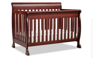 Solid wood gently used baby crib for sale!!