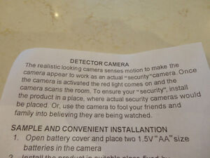 Realistic Looking Motion Activated Security Camera - Uses 2 AA's Kitchener / Waterloo Kitchener Area image 8