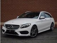 2016 16 Mercedes Benz C Class 2.1 C220d AMG Line (Premium Plus) (White)