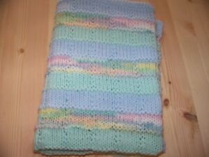 Knitted Baby car seat/ stroller  blanket