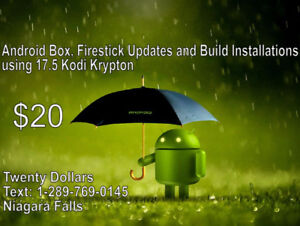 Android Box servicing and 17.5 build installations TWENTY DOLLAR