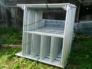 Echafaudages en Acier Galvanise-Galvanized Steel Scaffolding