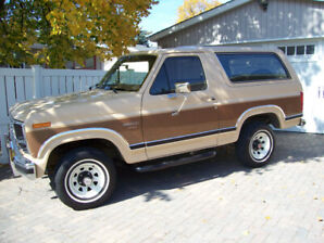 1986 Ford Bronco XLT 4X4 only 70000 km
