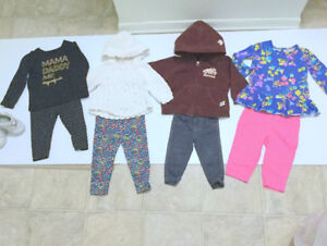 Baby Girl (6-12 m.) 2 Jackets Roots, Dress, Leggings, Shoes (9 p